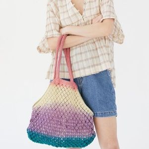 Urban Outfitters Ombre Net Tote Bag NWT